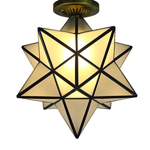 YANQING Duurzame Plafond Lichten Moderne LED Plafond Licht, Polygon Glas Kroonluchter, Corridor Aisle Terras Keuken Slaapkamer Decoratie Licht Plafond Lamp Plafond Lichten (Kleur : A)