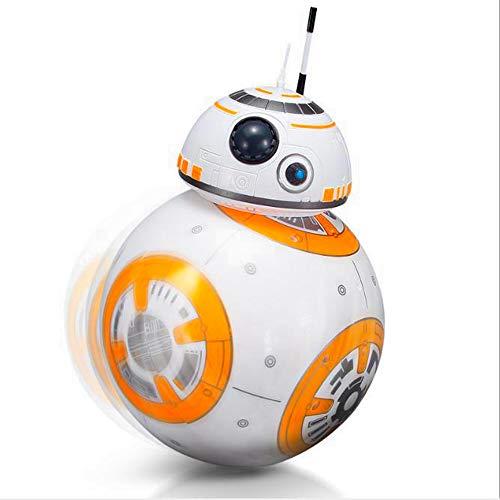 Star Wars series BB8 2.4G control remoto juguetes con efectos de luz y sonido giratorios,Star Wars BB-8 hero robot modelo juguetes para niños,Regalos de cumpleaños para niños u otros regalos navideños