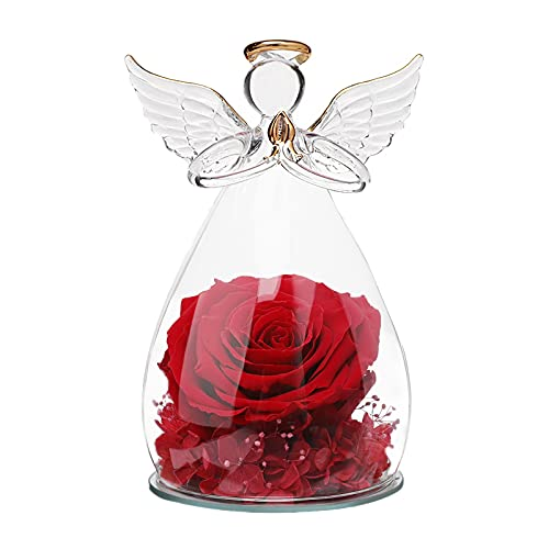 Sacredyna 6.6 Inches Angels Birthday Gifts for Grandma Nana  Forever Red Rose Thank You Gifts for Women