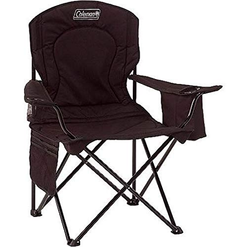 410iFp5eaDL - Coleman Camping Chair with 4 Can Cooler | Chair with Built In 4 Can Cooler, Black