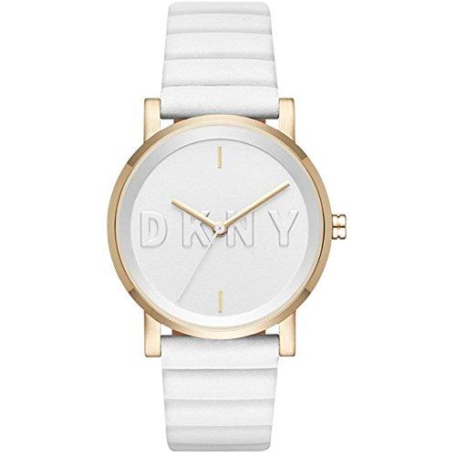 DKNY Damen Analog Quarz Uhr mit Leder Armband NY2632