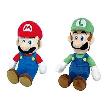 LB Super Mario Little Buddy Set of 2 Super Mario All Star Collection Plush - 1414 Mario & 1415 Luigi