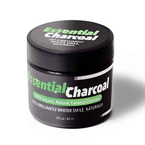 Essential Charcoal Activated Teeth Whitening Poeder - 100% Biologische, Natuurlijke Kokos Houtskool
