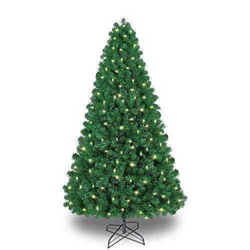 Shareconn Premium Künstlicher Weihnachtsbaum mit Stabilem Ständer mit 1178 Spitzen und 330 Beleuchtung LED, Tannenbaum inkl. Metall Christbaum Ständer 6.5ft
