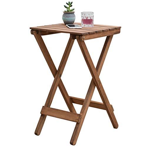 Tables basses Petite Table Fleur Stand en Bois Massif Fleur Stand Table Pliante extérieure (Color : Beige, Size : 36 * 36 * 50cm)