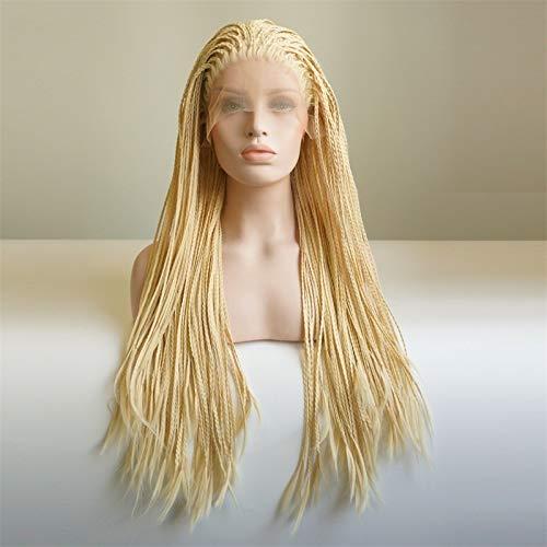 Perruque Femmes Noël Halloween Party 24 « / 26 » Cheveux longs Tresses Parti synthétique avant de dentelle perruque for les femmes + Cap Postiches (Color : 24 Inches, Size : 1)