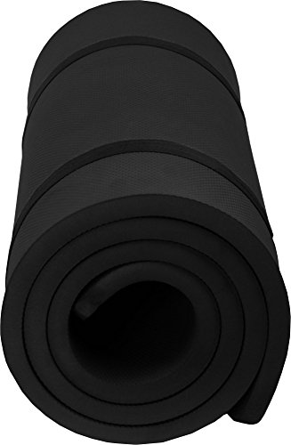 normani Thermo Isomatte Komfort extra dick mit 2 cm Stärke Farbe Schwarz