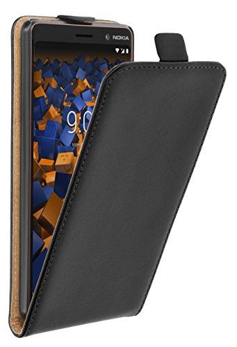 mumbi Tasche Flip Hülle kompatibel mit Nokia 7 Plus Hülle Handytasche Hülle Wallet, schwarz