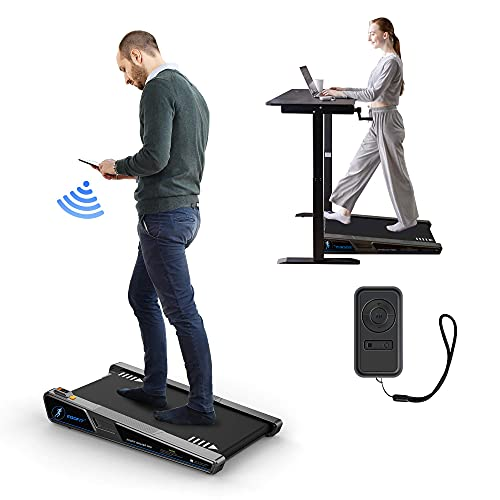 Egofit Walker Pro Small Under Desk Electric Treadmill Walking Machine, Installation-Free with LED Display, Remote Control and APP Control, Compact Fit Standing Desk Exerciser for Home Office Use