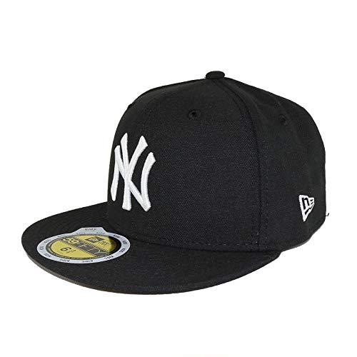 New Era New York Yankees Kids 59Fifty Fitted Basecap - MLB League Basic (Schwarz/Weiß, Kids 6 5/8)