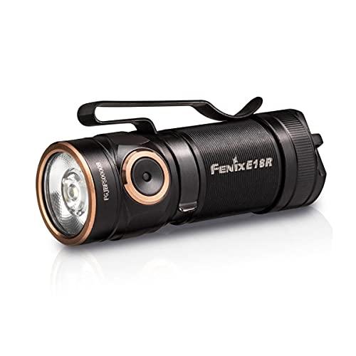 Fenix e18r LED Linterna, Unisex-Adult, Black, Small