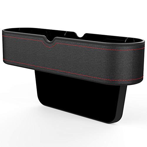 GLOBALDREAM Universal Auto Seat Gap Organizer Aufbewahrungsbox Konsole Seitentasche Ledersitz Spalt Aufbewahrungsbox für Brieftasche Telefon Münzen Zigarettenschlüssel Karten Tassen