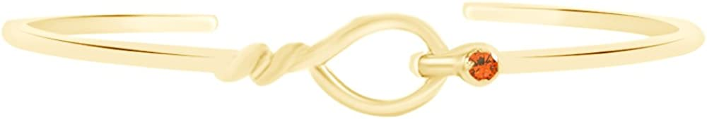 AFFY Loop Translated Cuff Bracelet Save money in 14k Over Sterling Yellow Silver Gold