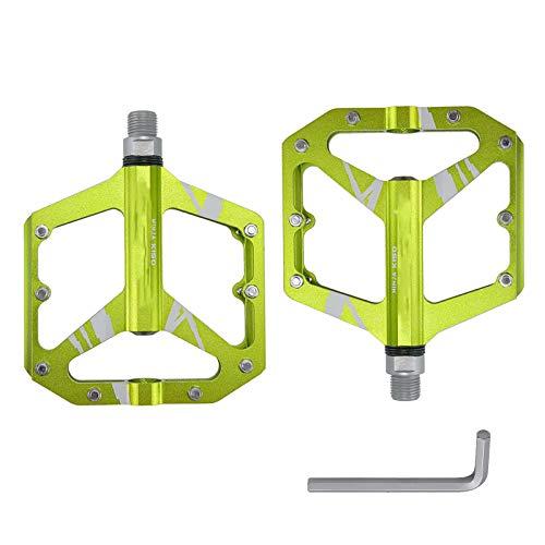 MKKYDFDJ Pedales Bicicleta, Carretera/Pedales MTB Antideslizantes CNC Craft AleacióN de Aluminio, 9/16' Cojinete de La Bicicleta Pedales de CR-Mo Acero con Llave, para MTB, BMX