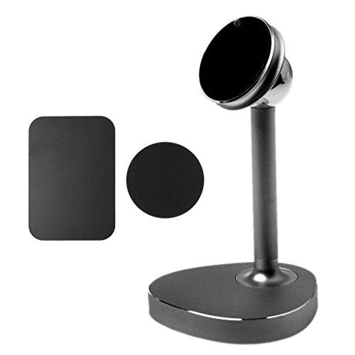 Buwei Universal 360 Rotation Magnetic Desk Stand Holder para iPhone Teléfono Celular Tablet PC