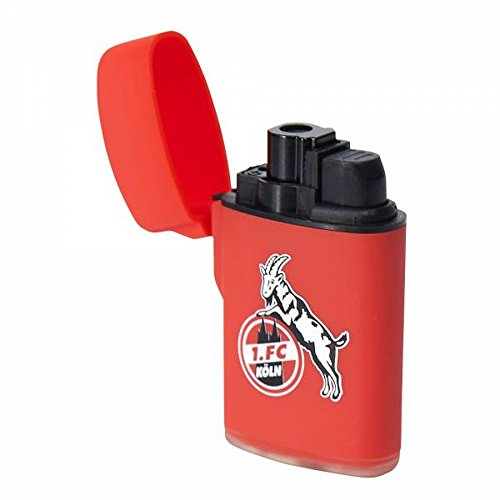Feuerzeug Rubber Laser rot 1. FC Köln