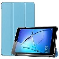 Billionn Huawei MatePad T8(kobe2-L03 / KOB2-L09)タブレット用フォリオ3つ折りスタンドスマートケース[超薄型] [超軽量]、空色