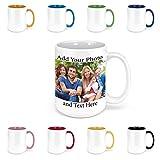 Custom Coffee Mugs - Personalized Coffee Mugs with Photo Text, Customized Ceramic Coffee Mug - Customizable Mug, Funny Mug, Personalized Gifts, Custom Mug with Photo - Add Your Photo - 15oz White