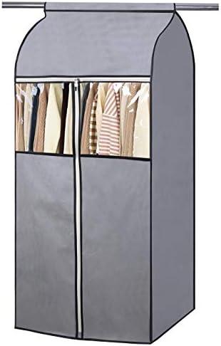 SLEEPING LAMB 54 Garment Bag Organizer Storage with Clear PVC Windows Well Sealed Garment Rack product image