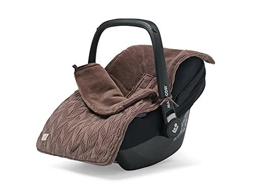 Jollein 025-811-66036 Spring Knit - Saco de dormir para silla de bebé (punto de cruz), color marrón
