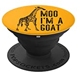 Giraffe Moo Goat Funny Zoo Gift Product - PopSockets Grip and Stand for Phones and Tablets