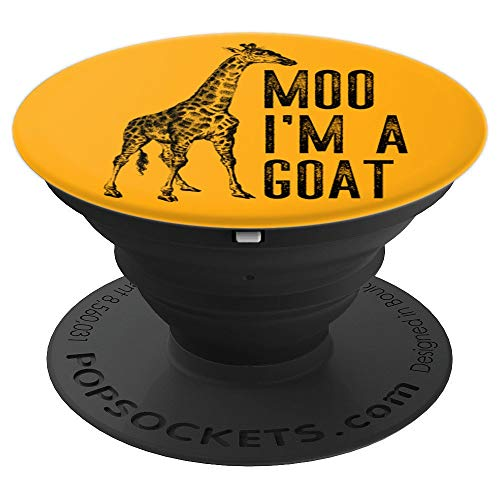 Giraffe Moo Goat Funny Zoo Gift Product PopSockets Grip and Stand for Phones and Tablets