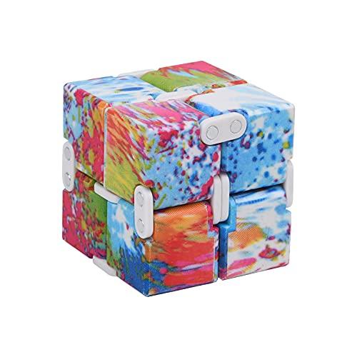 Vicloon Infinity Cube Fidget Toy,Puzzle Cube Durable Exquisito Juguete de Descompresión,Alivia el Estrés TDAH Adicción y La Ansiedad Finger Toy para Adultos y Niños