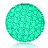 Etrexonline Pop Juguetes Antiestrés Sensorial Silicona Sensorial Fidget Juguete Silicona Juego Push Pop Bubble Fidget Toy - Redondo Verde Agua