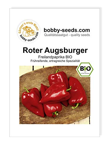 Roter Augsburger Paprika Samen BIO von Bobby-Seeds Portion