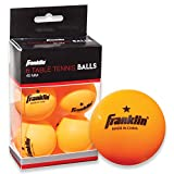 Franklin Sports 1 Star Table Tennis Balls (Pack of 6), Orange, 40 mm