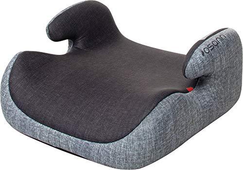 Osann Kindersitzerhöhung 104-141-263 Hula Gruppe 2/3 (15-36 kg), Sitzerhöhung Kinder Grau