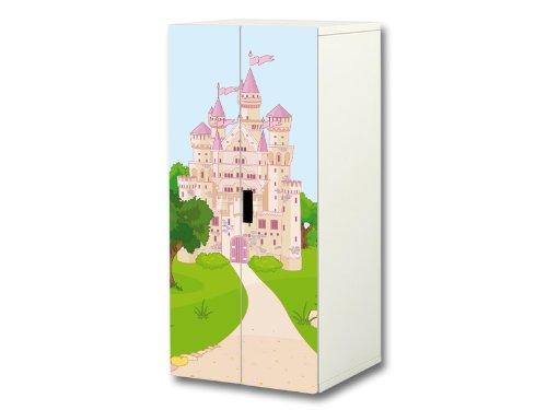'Märchenwelt' Aufkleber-Set | SC13 | passend für den Kinderzimmer Schrank STUVA von IKEA (Korpus: 60 x 128 cm) | Möbel Nicht Inklusive | STIKKIPIX