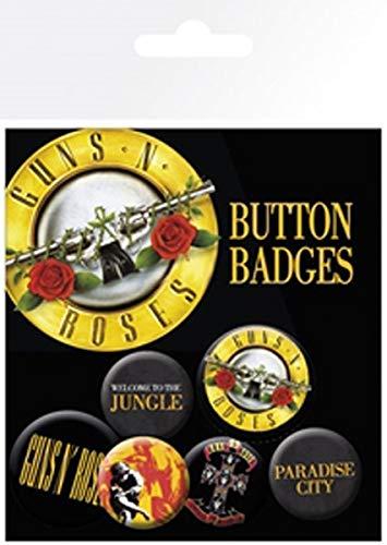GB Eye Guns N Roses Liedtext und Logos Badge Pack
