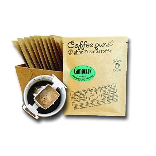 Life is You! Coffee Bags   (BIO) Lampocoy Grand Cru Kaffee aus dem kleinen Bergdorf Lampocoy in Guatemala   15 Coffee Bags (für Becher)   - 100% Arabica - frisch & schonend handgerösteter Filterkaffee   Jeder Coffee Bag EINZELN in einem Sachet VERPACKT