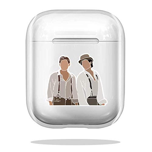 Case Cover Damon and Stefan Salvatore Vampire Diaries Drawing Compatible with Airpod Pro Airpods Shockproof Accessories Shock