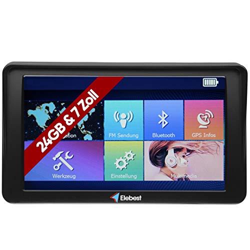 Elebest City 70A Navigationsgerät 7 Zoll Display (17,8cm) Touchscreen, 24GB Speicher, für PKW,LKW,Wohnmobil,GPS,Navi,Freisprecheinrichtung, Bluetooth, Lebenslange Kostenlose Kartenupdate