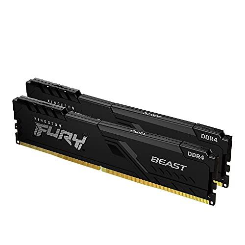 Kingston FURY Beast 16GB (2x8GB) 3200MHz DDR4 CL16 Memoria Gaming Kit per Computer Fissi Kit da 2 KF432C16BBK2/16