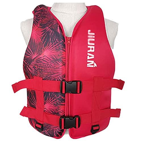 LIUXIN Cómodo Chaleco Salvavidas Adulto, Niño Ajustable Chaleco de Flotabilidad Baño de para Kayak Pesca, Chaquetas y Seguridad Portátil Chalecos Salvavidas para Barcosred-L/Weight:60kg to75kg