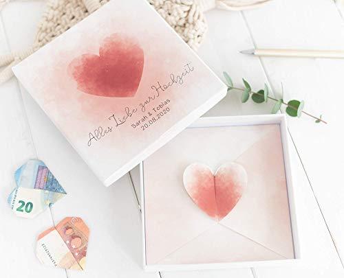 Geldgeschenk zur Hochzeit - Geld Verpackung - PERSONALISIERT HOT SUMMER