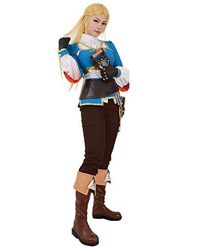 Miccostumes Women S Zelda Breath Wild Princess Zelda Cosplay Costume Women Xl