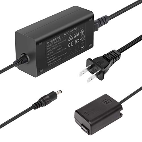 AC PW20 Continuous Power Supply Adapter NP-FW50 Dummy Battery for Sony Alpha A6000 A5000 A5100 A6100 A6300 A6400 A6500 A7 A7II A7RII A7S A7SII A7R A35 A37 A55 RX10 Cameras by Tengdaxing