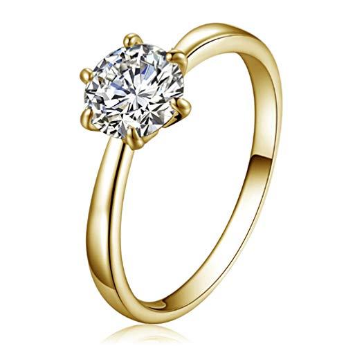 Toporchid Trauringe Für Frauen Six Claw Ring Verlobungsring (Größe 9)