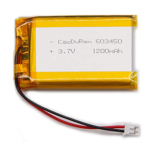MSDS Verified Compatible Part Number: 603450 603550 063550, Rechargeable 3.7V 1100mAh Li Lipo Lithium Polymer Ion Battery Pack with 2 Pin 2.0mm JST Connector