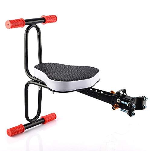DKZK Fahrrad Kindersitz, Abnehmbarer Fahrradvordersitz Kindersicherheit Fahrradhalterung Kindersitz Fahrradarmlehne Sitzkissen