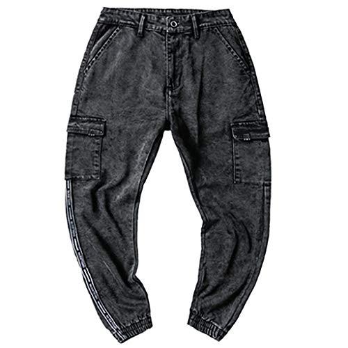 Preisvergleich Produktbild SUCES Cargo Jeanshose Herren Männer Denim Jeans Chino-Hose Outdoor Cargohose Chinohose Stoffhose Freizeithosen Leisure Haremshosen Streetwear Herren-Hosen Outdoorhose