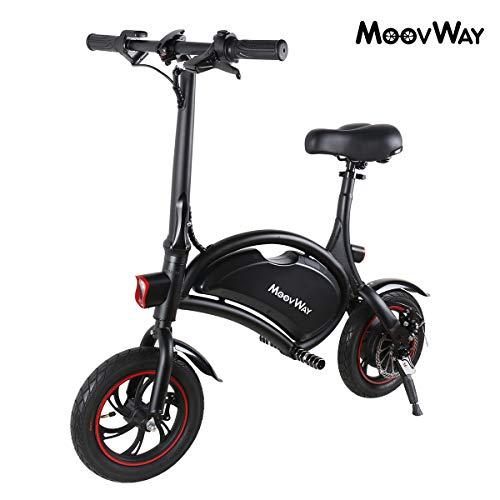 Windgoo Bicicleta Electrica Plegables, 350W Motor Bicicleta Plegable 25 km/h y 15 km, Bici Electricas Adulto con Ruedas de 12