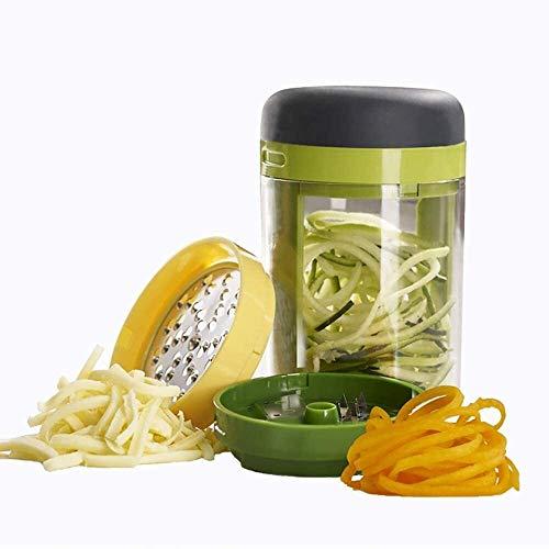 ZXNRTU Safety Practical Vegetable Slicer,Spiralizer Vegetable Slicer,Compact Manual Food Chopper Cutter Mincer for Garlic Nuts Ginger Herbs Parsley Chili Peppers