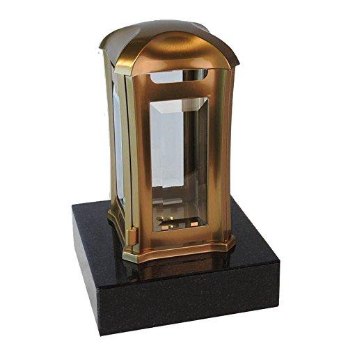 designgrab aml5agb1swed Lampe tombale Venezia en Acier Inoxydable – Bronze, Doré, 13 x 13 x 24 cm