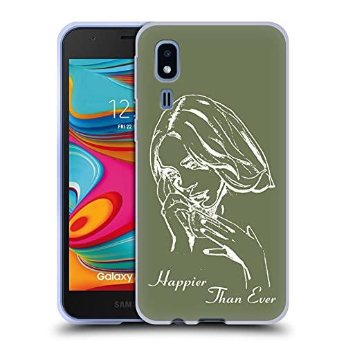 Head Case Designs Licenza Ufficiale Billie Eilish Album Stencil Verde Happier Than Ever Cover in Morbido Gel Compatibile con Samsung Galaxy A2 Core (2019)