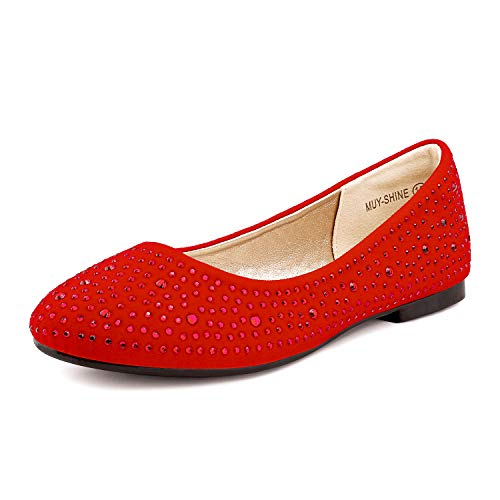 Top 10 best selling list for red flat shoes size 3